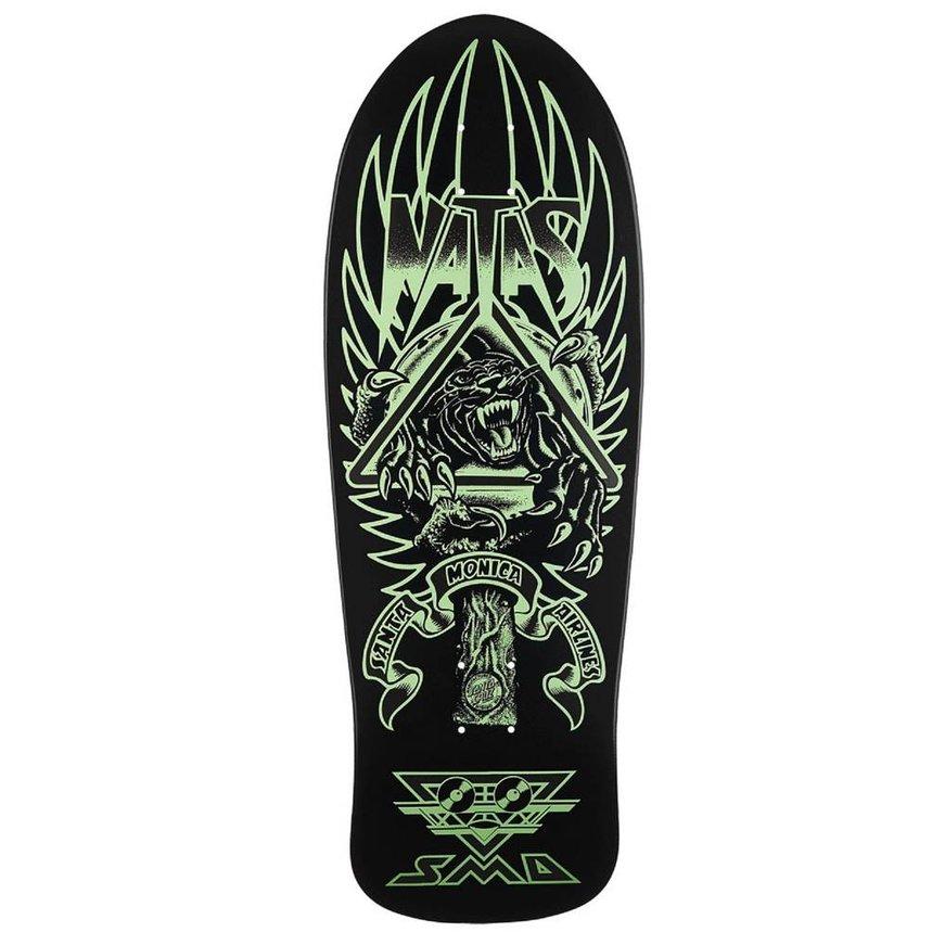"Santa Cruz Skateboards Santa Cruz Natas Kaupas Deck - Panther 3 Glow Re-Issue (10.538"")"
