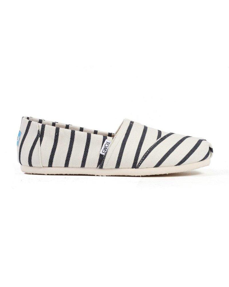 TOMS Women's Classics - White/Navy Riviera Stripe