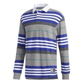 adidas Cleland Polo Shirt - Core Heather/Active Blue/Active Green