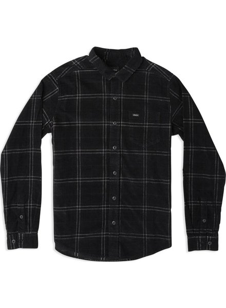 RVCA Plaid Phases Corduroy Flannel Shirt