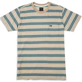 RUCA Lucas Striped Knit Tee - Pine Tree