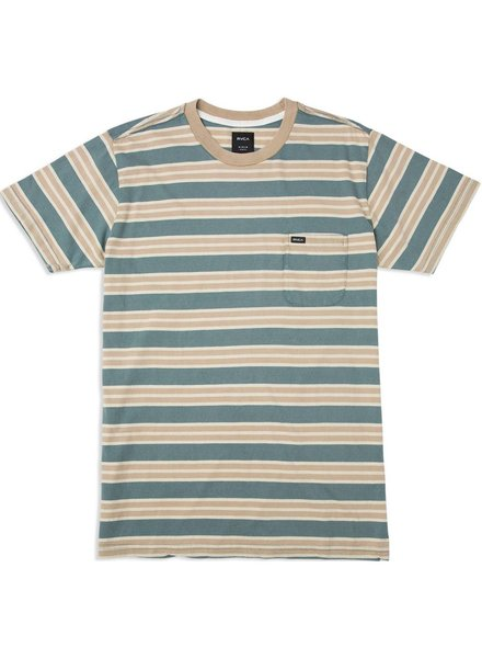 RVCA Lucas Striped Knit Tee - Pine Tree
