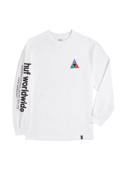 HUF Prism Long Sleeve - White