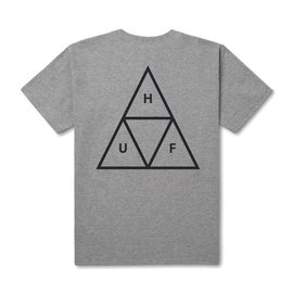 HUF Essentials Triple Triangle Tee - Heather Grey