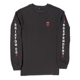 Brixton x Independent Frame Long Sleeve Tee - Washed Black