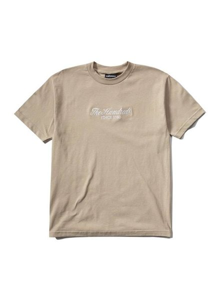 The Hundreds Rich Embroidery Tee - Sand