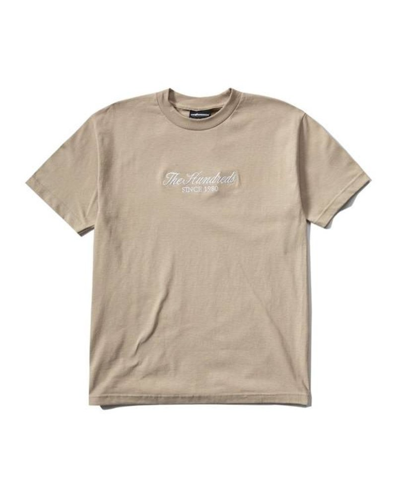 The Hundreds The Hundreds Rich Embroidery Tee - Sand