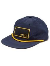 enjoi Captain Box Logo Snapback Hat - Navy/Yellow