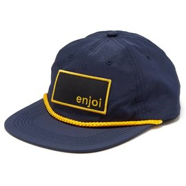 enjoi Captain Box Logo Snapback Hat - Navy/Yellow