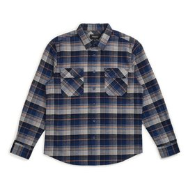 Brixton Bowery Flannel - Blue Knight