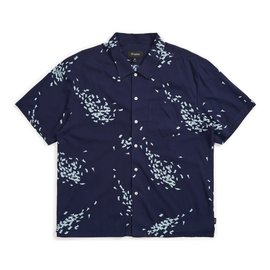 Brixton Lovitz Woven Button Up Tee - Patriot Blue