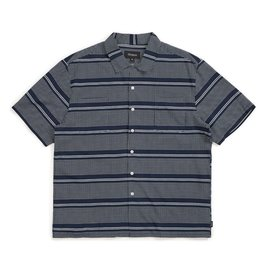 Brixton Cruze Button Up Tee - Navy