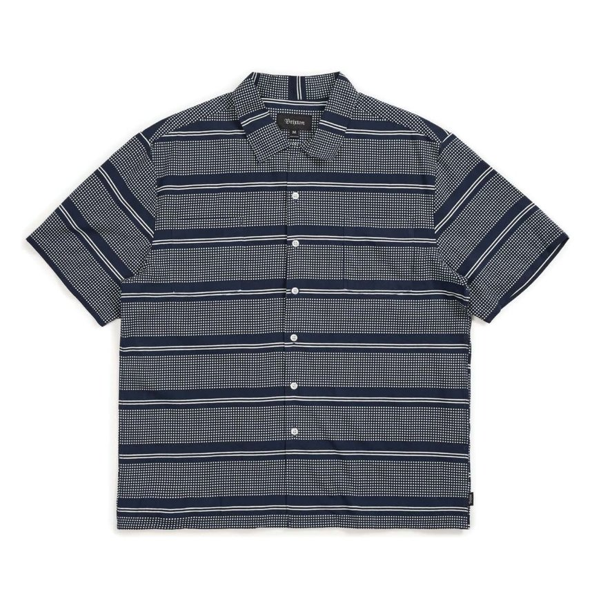 Brixton Brixton Cruze Button Up Tee - Navy