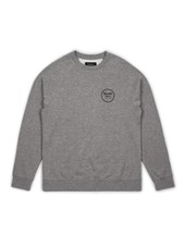Brixton Wheeler Crew Fleece - Heather Grey