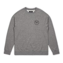 Brixton Brixton Wheeler Crew Fleece - Heather Grey