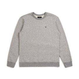 Brixton B Shield Crew - Heather Grey