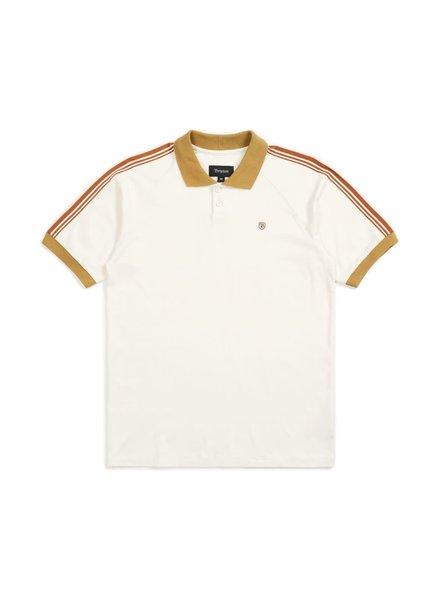 Brixton Este Polo - Cream/Khaki