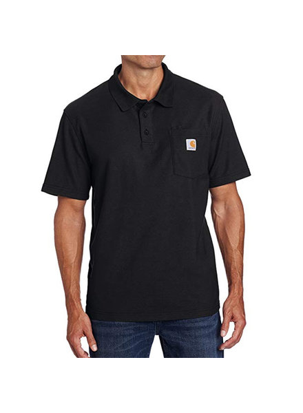 CARHARTT INC. Contractor's Work Pocket Polo Tee - Black