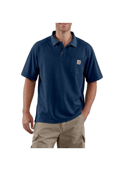 CARHARTT INC. Contractor's Work Pocket Polo Tee - Navy
