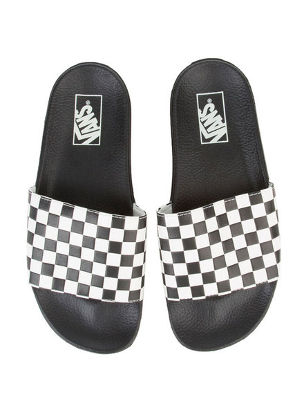Vans SANDAL SLIDE ON CHECKER BLACK WHITE