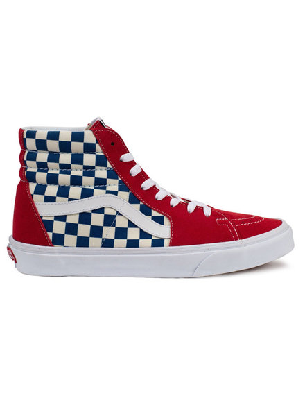 Vans SK8-HI BMX CHECKERBOARD RED WHITE BLUE