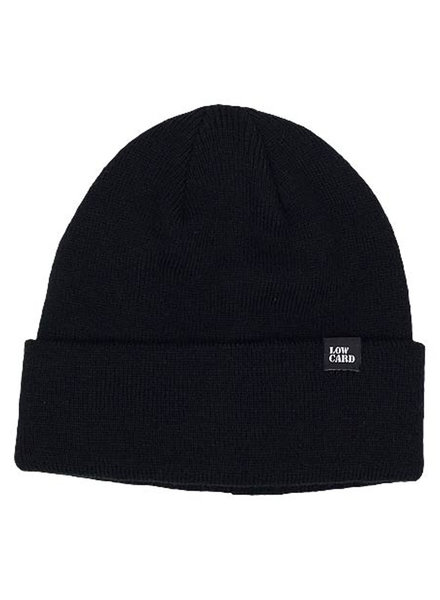 Lowcard LOWCARD BEANIE DOUBLE DOWN BLK (LOWBDOUBLE)