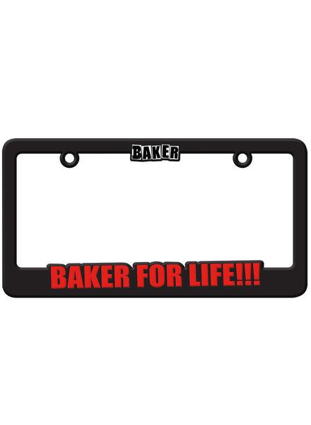 Baker Baker For Life!!! License Plate Holder