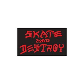 Thrasher Skate and Destroy Medium Sticker