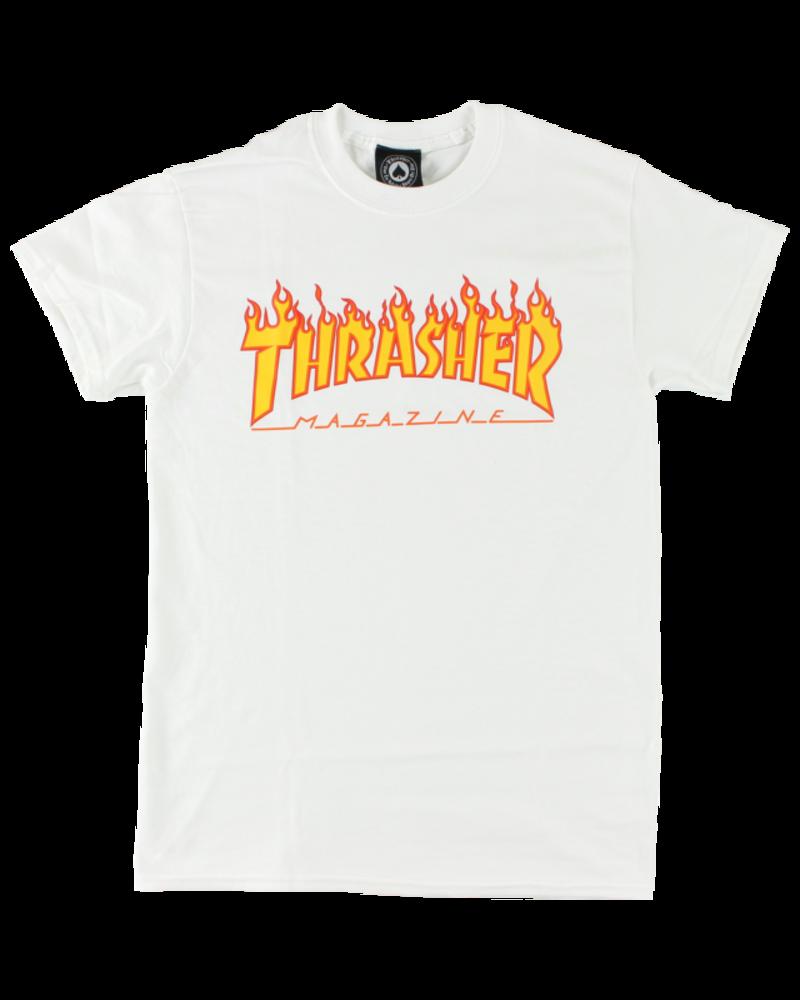 Thrasher Thrasher Flames Tee - White