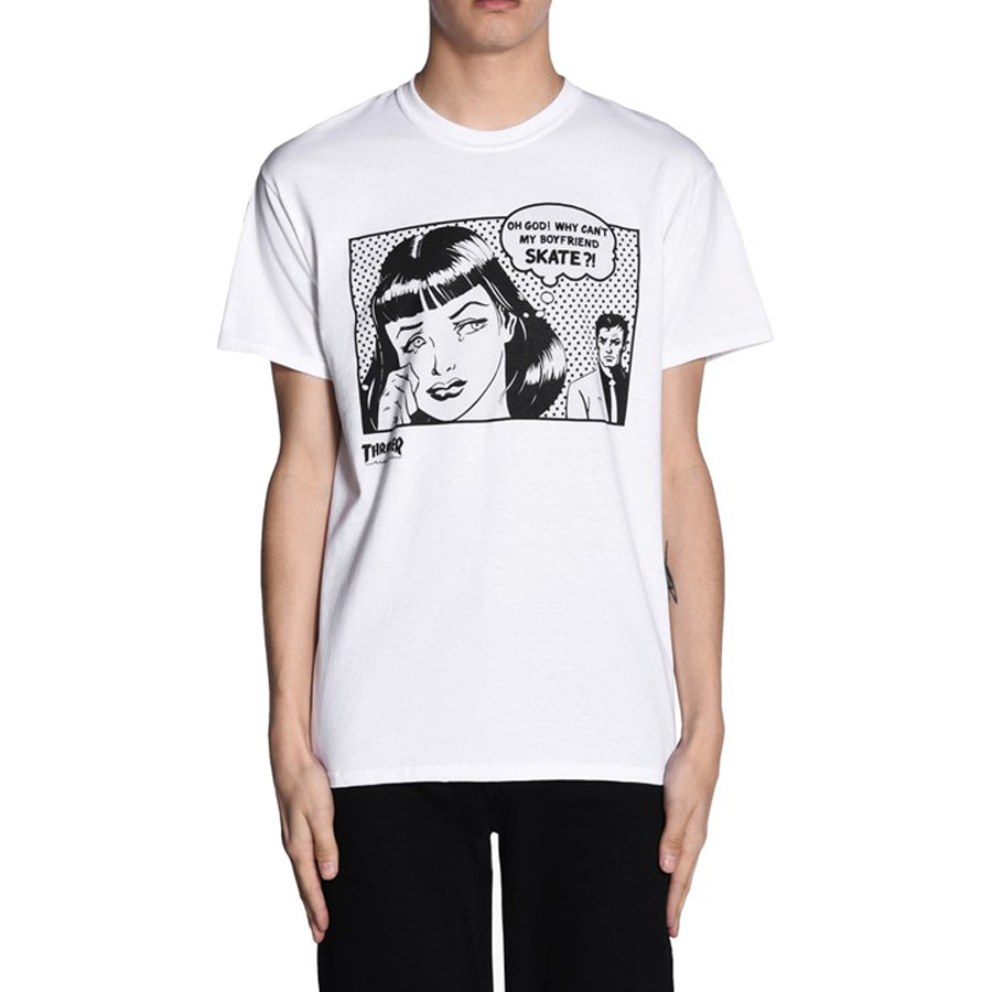 b234fafb5a7c Thrasher - New Boyfriend Tee (White) - Identity Boardshop