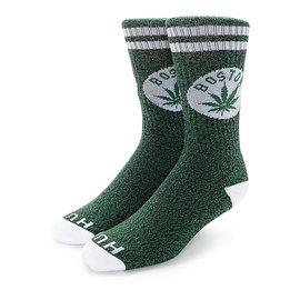 HUF Legalize Boston Crew Sock - Green/White