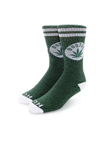HUF Legalize Boston Crew Sock - Green/White