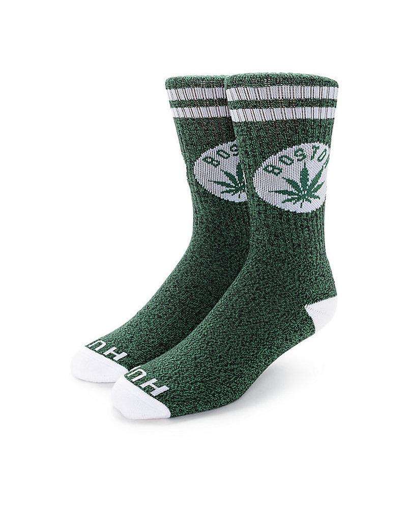 HUF HUF Legalize Boston Crew Sock - Green/White