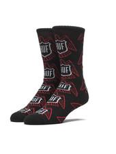 HUF Thunderbird Crew Black Sock - Black