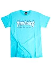 Thrasher Flames Tee - Sky Blue