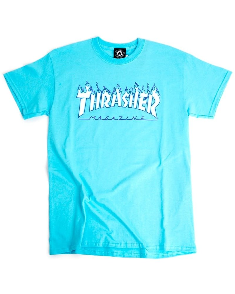 Thrasher Thrasher Flames Tee - Sky Blue