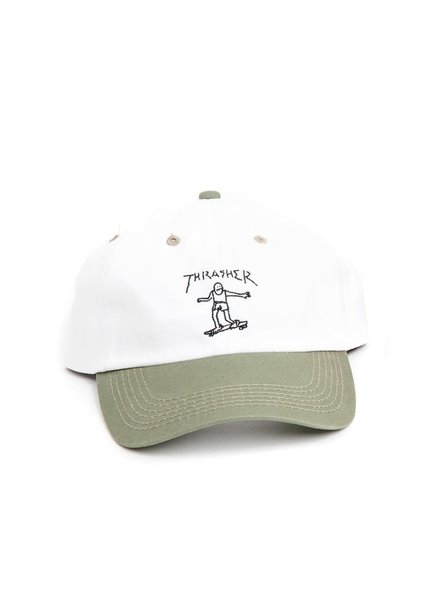 Thrasher Gonz Old Timer Hat - Olive/White