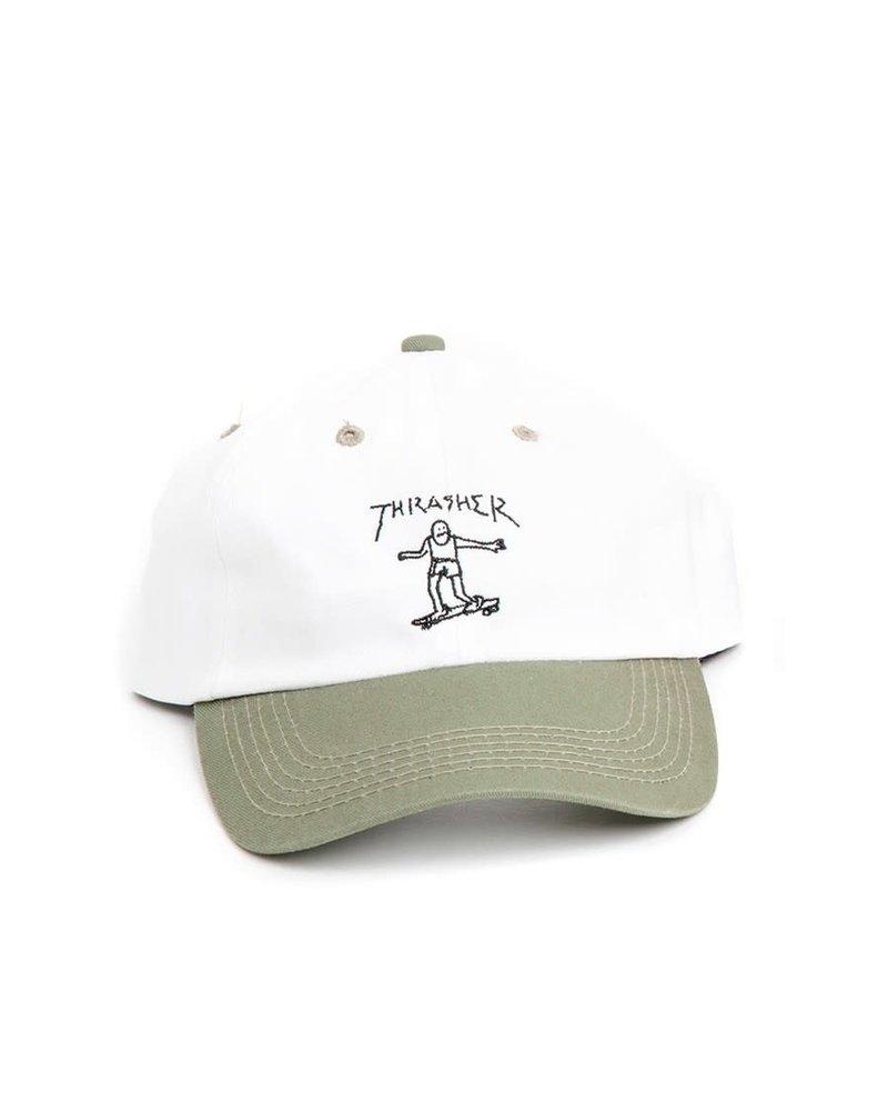 Thrasher Thrasher Gonz Old Timer Hat - Olive/White
