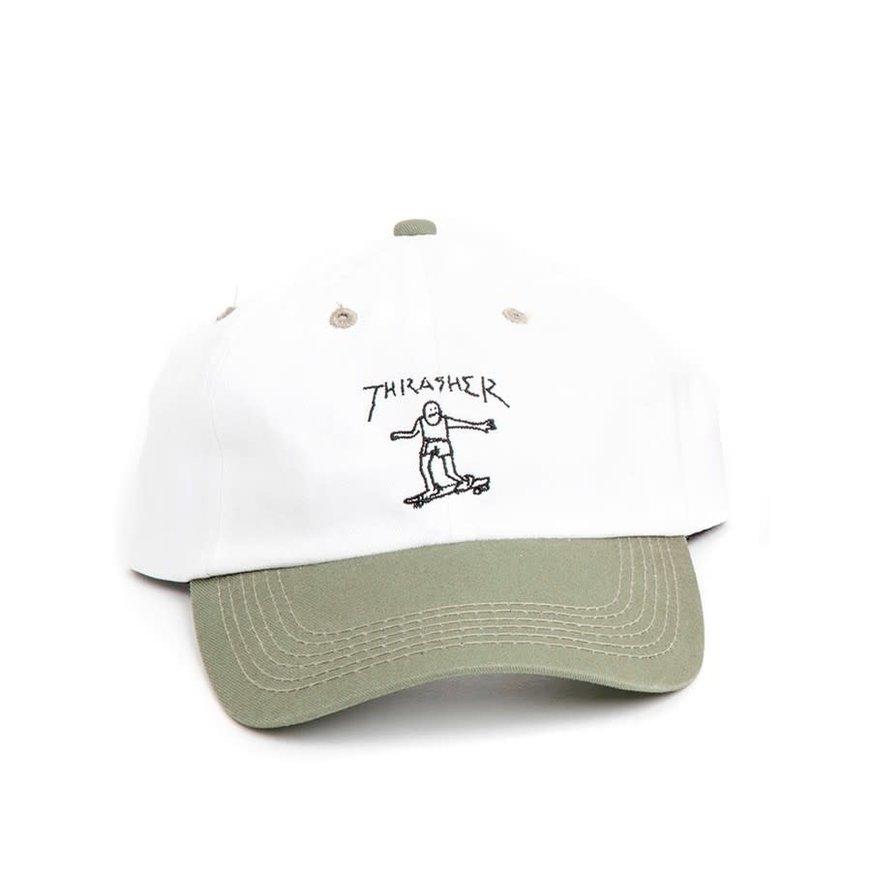 84b17175df038 Thrasher - Gonz Old Timer Hat (Olive White) - Identity Boardshop