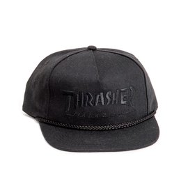 Thrasher Rope Snapback - Black