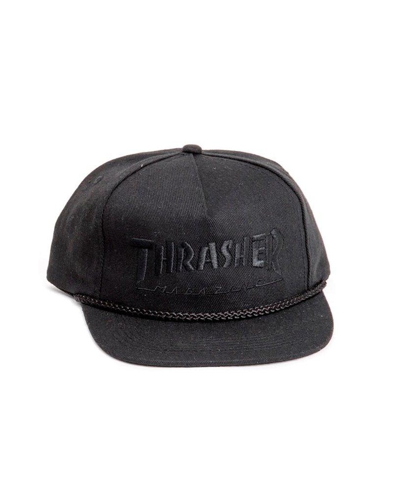 Thrasher Thrasher Rope Snapback - Black