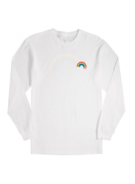 Vans Retro Rainbow Long Sleeve Tee - White