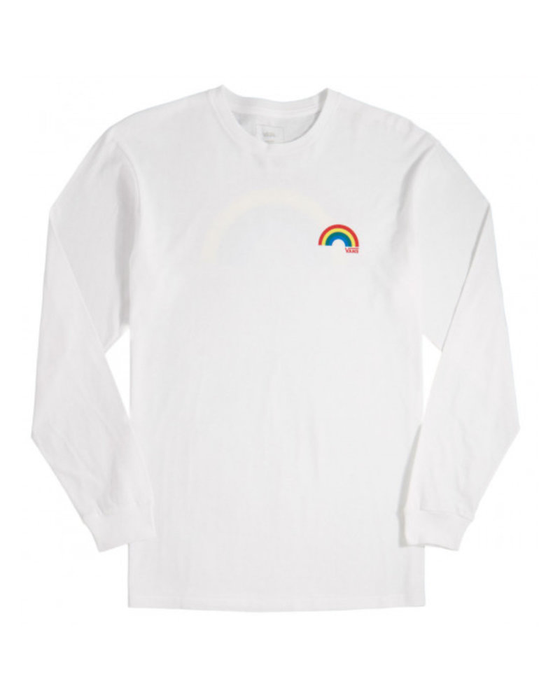 Vans Vans Retro Rainbow Long Sleeve Tee - White