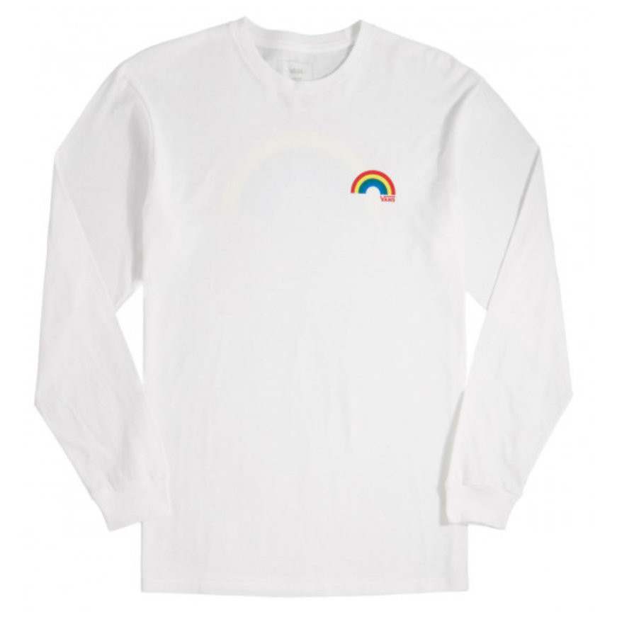 Vans Vans Retro Rainbow Long Sleeve Tee - White