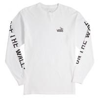Vans Vans x Anti Hero On The Wire Long Sleeve Tee - White