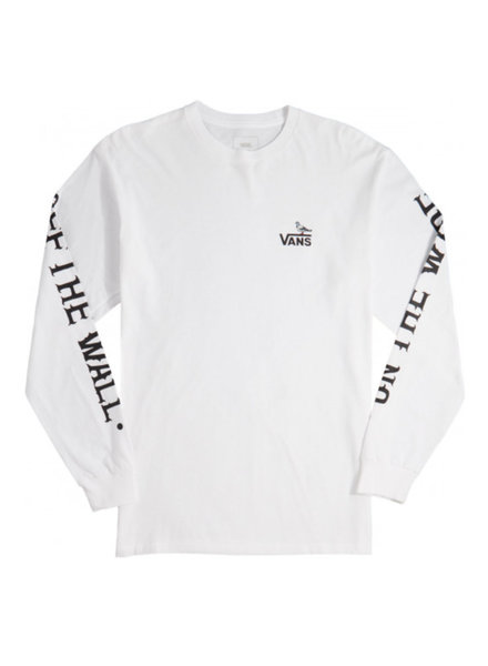 Vans x Anti Hero On The Wire Long Sleeve Tee - White