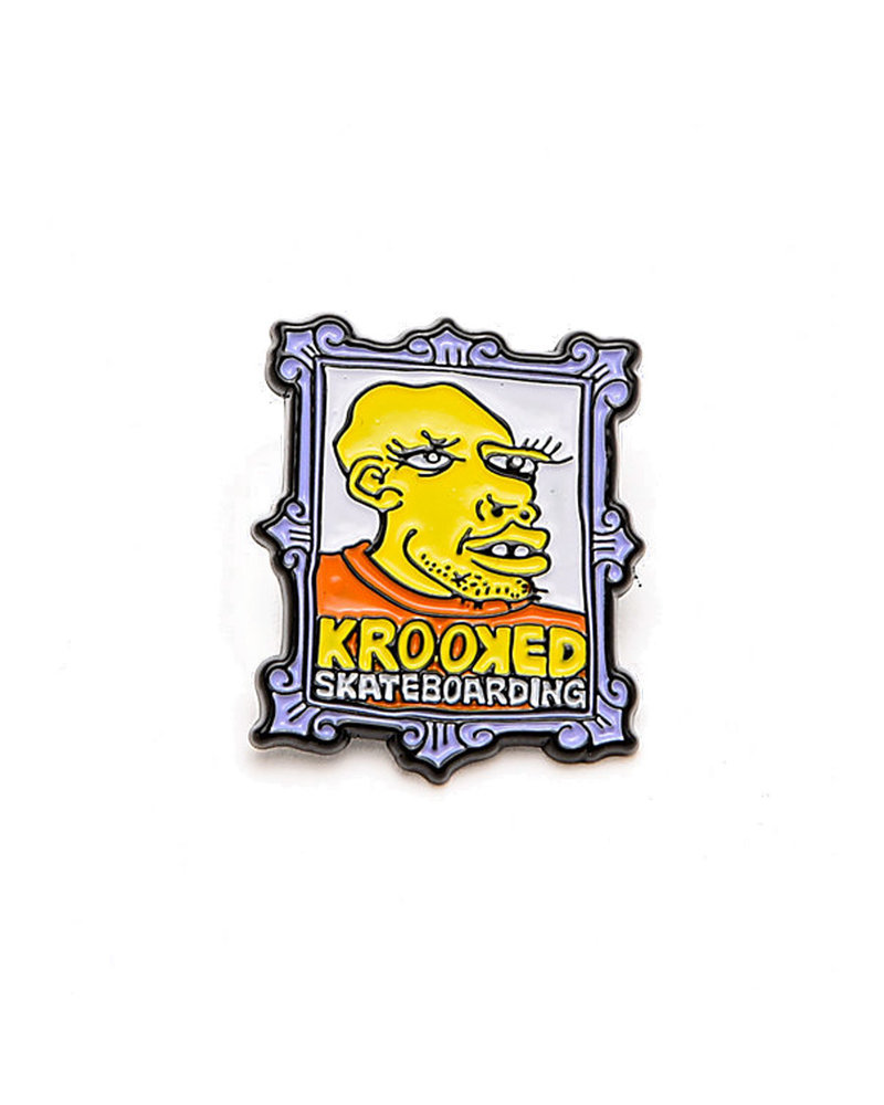 Krooked Skateboarding Krooked Frame Face Lapel Pin