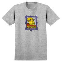 Krooked Skateboarding Krooked Frame Face Tee - Heather Grey