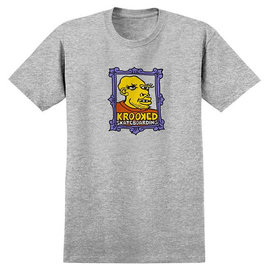 Krooked Skateboarding Frame Face Tee - Heather Grey