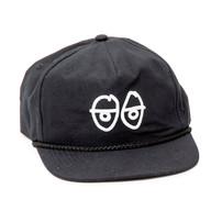 Krooked Skateboarding Krooked Embroidered Stock Eyes Adjustable Hat - Black